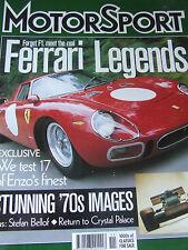 MOTOR SPORT NOV 2000 FERRARI LEGENDS ENZO'S FINEST STUNNING 70s IMAGES STEFAN BE