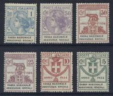 ITALIA 1924 franchising cassa naz.ass.sociali MINT Unmounted NHM Set