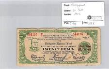 BILLET PHILIPPINES - 20 PESOS 1942