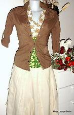 DESIGUAL Arruga Blusa - CAM Klimt - Marrón M 38 , NUEVO Camiseta
