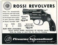 1967 Firearms International Corp Rossi Revolver Pistol Gun Print Ad