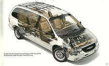 Grande 2000 CHRYSLER PUEBLO Y País Minivan/Mini-Van FOLLETO CON / TABLA DE