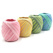Colorful Raffia Ribbon Cord Rope For Packaging Paper Rope DIY Gift Box Packing