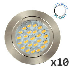 10 x 12V Recessed LED Caravan Motorhome Boat Spot Lights Downlights Cool White