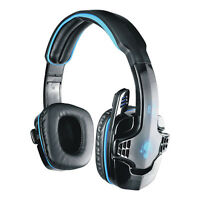 Pro Skype Gaming Stereo Headphones Headset w/ Mic PC Computer Laptop SA-708