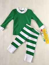 NWT Sara's Prints Green/White Pajamas Boy's Size 12 Month Free Shipping