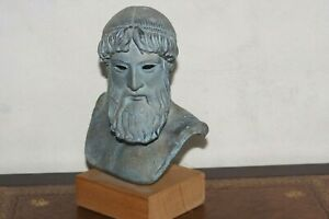 Vintage Carved Stone Bust Figure Greek or Roman
