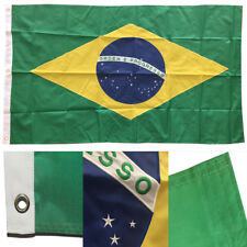 3x5 Embroidered Sewn Brazil Brazilian 300D Nylon Flag 3'x5' 3 Clips