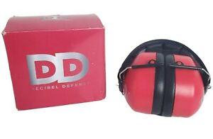 Decibel Defense 37dB NRR Earmuffs Red OSHA Approved 34dB Professional Safety