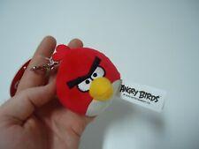 Angry Birds Red Plush Rovio 2009-2016 keychain keyring Video Game Angry Bird