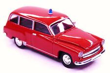 H0 BREKINA Personenkraftwagen Wartburg 311 Kombi DDR Feuerwehr Blaulicht # 27177