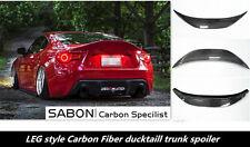 2013-16 Toyota GT86 BRZ FR-S Trunk Lid Spoiler// LEGS Style //Carbon Fiber Black