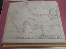 100% ORIGINAL SEA CHART ST GEORGE CHANELL IRISH SEA WALES ENGR BY COLLINS C1760
