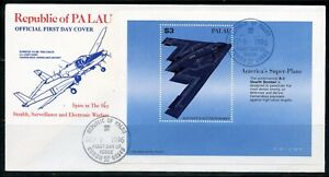 PALAU 1996 B-2 STEALTH BOMBER SOUVENIR  SHEET  FIRST DAY COVER