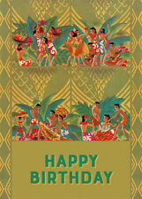 4 Greeting Cards Hawaiian Happy Birthday Aloha Birthday Luau