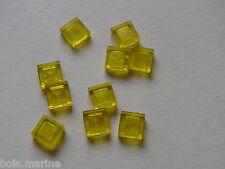 Lego 10 lisses transp jaune set  30161 4494 6335 5761 /10 trans-yellow tile 1x1