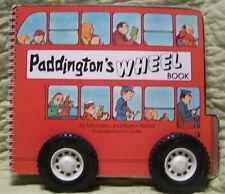 Paddington's Wheel Book by Michael and Karen Bond, Board Book, RARE, 1986
