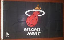 MIAMI HEAT NBA Flag Black XL 61X36