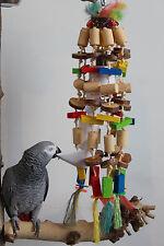 """PAPPAGALLI giocattoli """"Koko"""" Rosicchiala Divertimento & FUNNY Shredder 100 parti 60cm campanello"""
