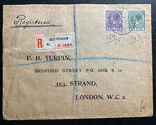 1930 Rotterdam Netherlands Registered Cover To London England