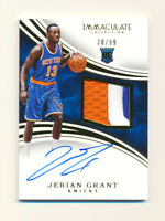 2015-16 PANINI IMMACULATE JERIAN GRANT RC 3CLR PATCH AUTO RPA NY KNICKS #30/99