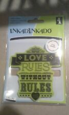 Inkadinkado stamping gear Cling rubber stamps red Love Rules without rules