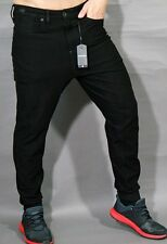 G-STAR JOGGING JEANS PANTALONI A CROTCH SPORTIVO TAPERED TAGLIA S BLACK