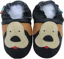 shoeszoo new soft sole leather baby shoes puppy black 12-18m S
