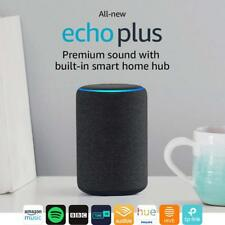 Amazon Echo Plus 2nd Generation- Built-in Smart Home Hub Alexa- Charcoal Fabric
