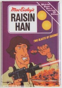 """Raisin Han MAGNET 2"""" x 3"""" Refrigerator or Locker Vintage star wars cereal"""