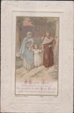 IMAGE PIEUSE HOLY CARD SANTINI LA SAINTE FAMILLE CHEMINANT SUR UN SENTIER