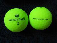 """10 WILSON STAFF -""""DX2 SOFT""""- """"OPTIX MATTE GREEN""""  Golf Balls - """"PEARL/A"""" Grades."""