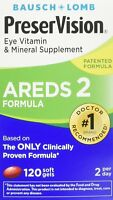 PreserVision AREDS 2 Vitamin & Mineral Supplement, Soft Gels 120 count