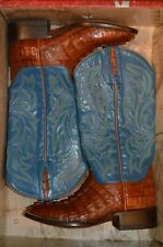 NEW Lucchese $1250 Classic Men's Boots Horned Back Cayman Tail Size 7 C
