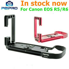 PEIPRO Alloy Quick release Plate L-bracket hand grip for Canon EOS R5 R6 camera