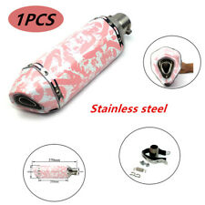 Stainless Steel 370mm Pink Motorcycle Exhaust Muffler Pipe For Girl Maiden Woman