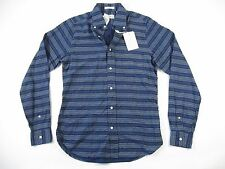 GANT RUGGER OXFORD THE HUGGER STRIPED BLUE SMALL BUTTON DOWN SHIRT MENS NWT NEW