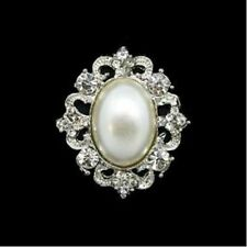 Rhinestone Diamonte & Pearl Cluster / Wedding / Formal / Shoe embellishment