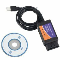 Auto USB ELM327 V1.5 Interface OBD2 OBDII Car Diagnostic Auto Scanner Cable H9