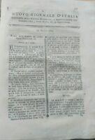 1784 NUOVO GIORNALE D'ITALIA: BONIFICHE PALUDI, LUCCIOLE, LEGNO PER NAVI, ecc.