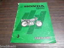 PARTS LIST HONDA CB 400 F FOUR 1975-> catalogue de pieces détachées CB400F