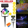 LED Solar Spot Rotating Projection Lights Garden Lawn Lamp Colorful Light