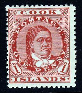 COOK ISLANDS 1913 1d. Red Watermark NZ Star Perf.14 SG 40 MINT