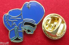 Blue Boxing Gloves Lapel Hat Cap Tie Pin Badge Spar Sparring Glove Fighter