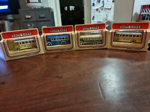 Diecast buses x4 Days Gone By Lledo c1983 used