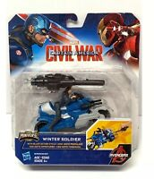 Marvel Captain America Civil War Winter Soldier Cycle Mini Action Figure NEW