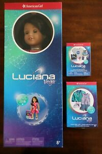 """American Girl Luciana 2018 18"""" doll stellar outfit visitor center accessories"""