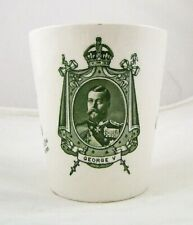 Royal Doulton Queen Mary & King GeorgeV Coronation Beaker 1911 Made In England