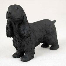 Cocker Spaniel English Dog Hand Painted Figurine resin Collectible Black puppy
