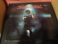 Amazing Grace Pipes Drums Military Band of Regimental Brigade of Scotland LP NM